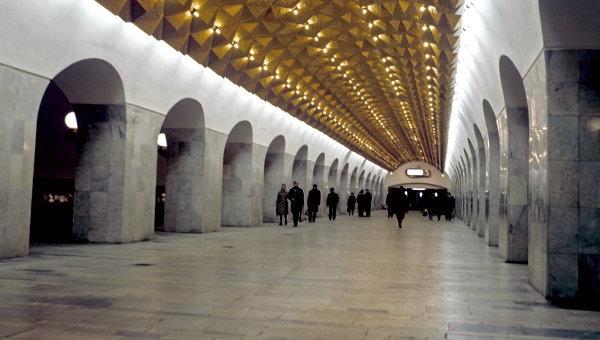 Станция метро Авиамоторная в Москве. Архивное фото