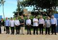 Министры торговли 12 стран тихоокеанского региона во время подписания договора Транс-Тихоокеанского торгового партнерства