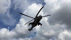 Российские ударные вертолеты Ми-24. Архивное фото