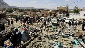Последствия авиаудара в йеменской провинции Дамар. Архивное фото