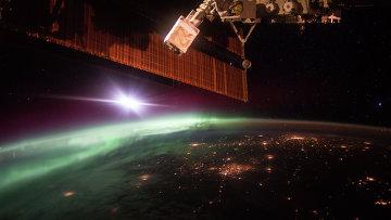 Вид на Землю с МКС. Архивное фото