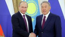 15 октября 2015. Президент России Владимир Путин и президент Казахстана Нурсултан Назарбаев во время встречи