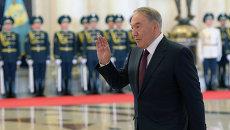 Президент Казахстана Нурсултан Назарбаев во время церемонии официальной встречи