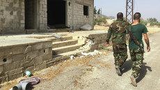 Деревня Саф-Сафа (провинция Хама), освобожденная сирийской армией от боевиков Фронта ан-Нусра
