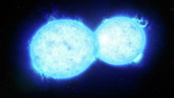 Так художник представил себе редчайшую двойную звезду в туманности Тарантула
