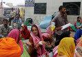 Пострадавшие от землетрясения в Индии