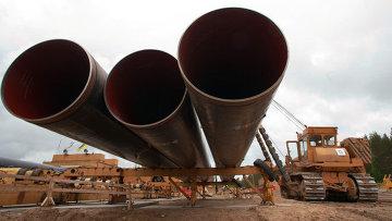 Строительство газопровода . Архивное фото