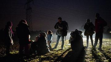 Мигранты, прибывшие с территории Хорватии. Архивное фото