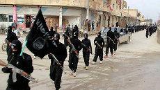 Боевики группировки Исламское государство. Архивное фото
