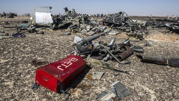 Обломки самолета Airbus A321 компании Когалымавиа. Архивное фото