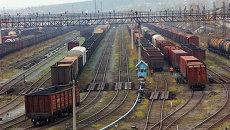 Товарные поезда. Архивное фото