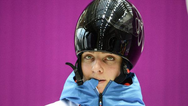 Российская скелетонистка Елена Никитина. Архивное фото