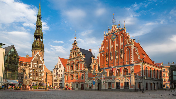 Вид на исторический центр Риги. Архивное фото