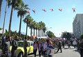 Митинг в поддержку российской военной операции в городе Тартус (Сирия)