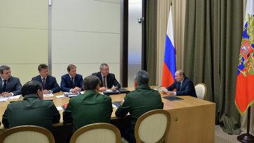Президент РФ Владимир Путин провел совещание по вопросам развития Вооружённых Сил РФ