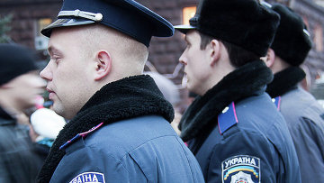 Сотрудники полиции Украины. Архивное фото