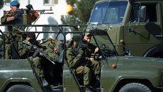 Военнослужащие 201-й российской военной базы в Таджикистане. Архивное фото
