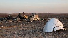 Поисковые работы на месте крушения российского самолета Airbus A321 в Египте. Архивное фото