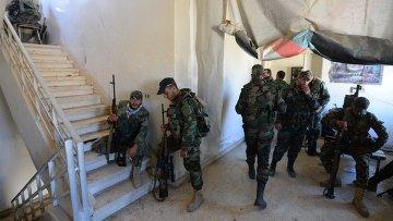 Солдаты Сирийской арабской армии. Архивное фото