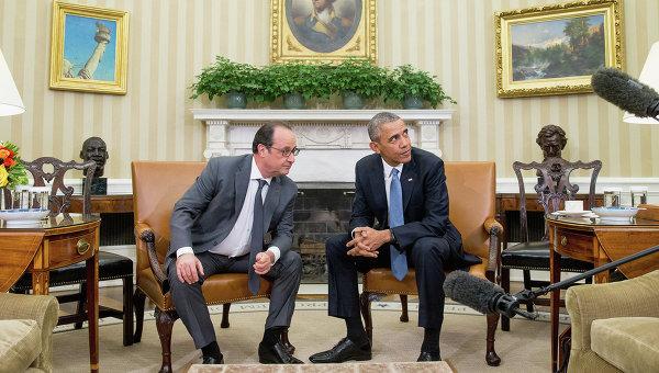 Барак Обама и Франсуа Олланд, архивное фото