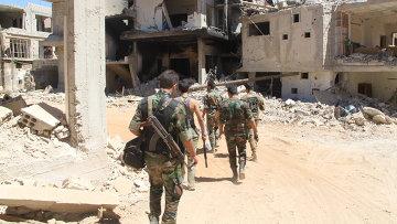 Позиция сирийской армии в районе поселения Сальма и города Забадани. Архивное фото