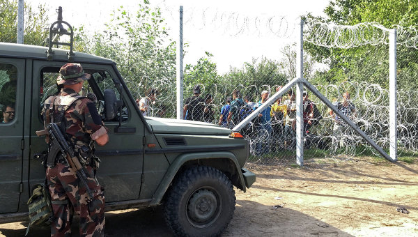 Ситуация на венгерско-сербской границе. Архивное фото