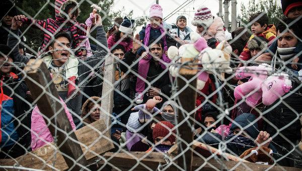 Мигранты протестуют против ограничений на греко-македонской границе. Архивное фото