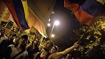 Флаги Венесуэлы. Архивное фото