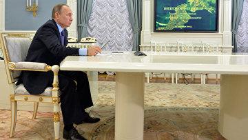 Президент РФ В.Путин в режиме видеоконференции принял участие в запусе второй очереди энергомоста в Крым