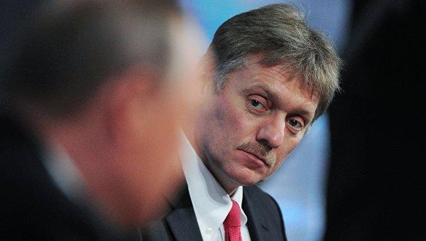 Пресс-секретарь президента РФ Дмитрий Песков на одиннадцатой большой ежегодной пресс-конференции президента России Владимира Путина
