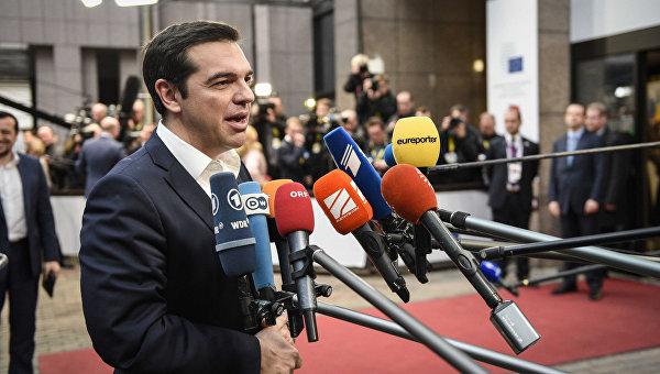 Алексис Ципрас  в Брюсселе. Архивное фото