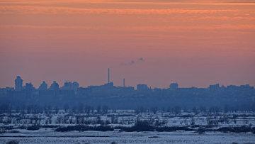 Вид на город Барнаул в Алтайском крае. Архивное фото