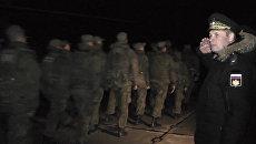 Морпехов ЧФ с оркестром встретили в Севастополе после возвращения из Сирии