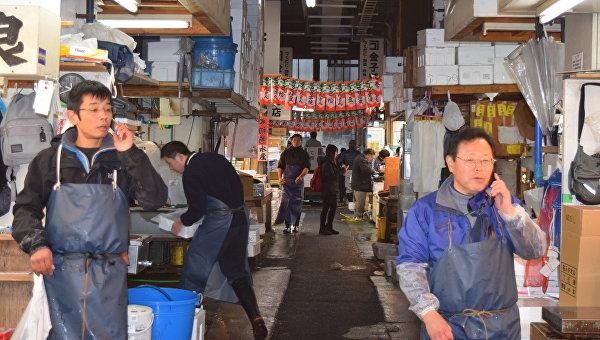 Рынок Цукидзи в Токио, Япония
