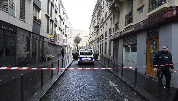 Полицейское оцепление в Париже. Архивное фото