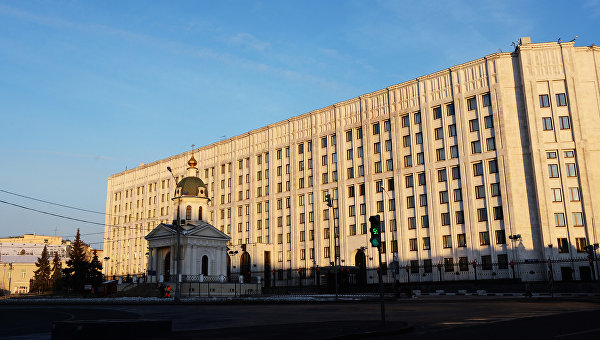 Здание министерства обороны РФ Арбатской площади в Москве. Архивное фото