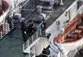 """Захваченный террористами паром """"Аврасия"""" в черноморском порту Трабзон"""