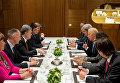 Президент Украины П. Порошенко встретился с вице-президентом США Д. Байденом и госсекретарем США Д. Керри