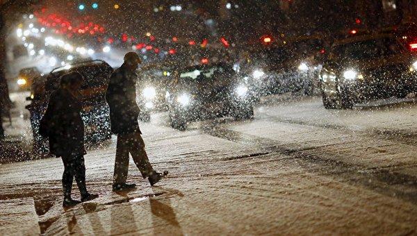 Снежный шторм в США, 20 января 2016