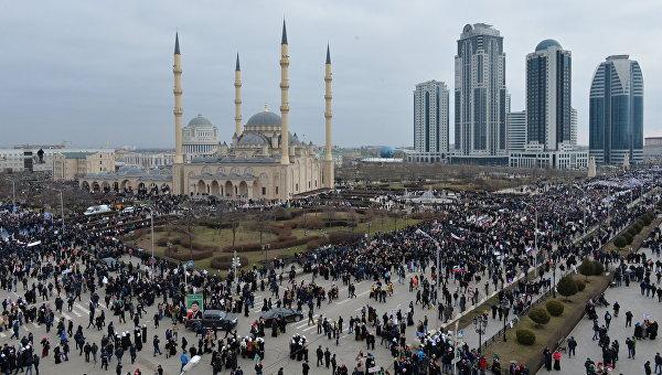 Митинг в Грозном. Архивное фото