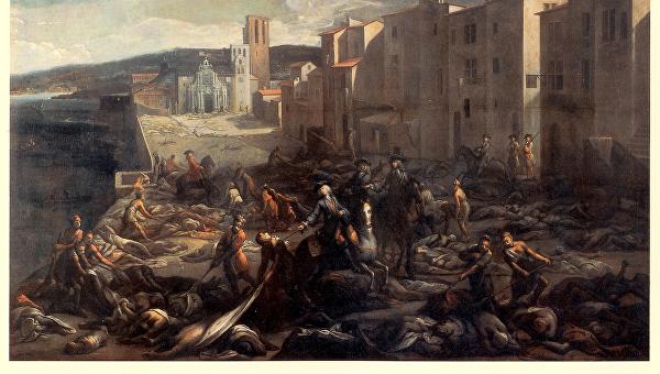 Марсель во время чумы. Картина неизвестного художника.