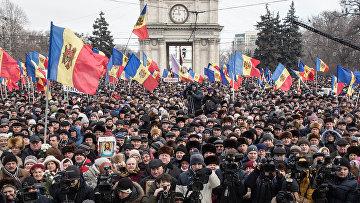Акция протеста в Молдавии. Архивное фото