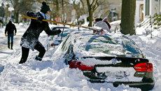 Последствия снегопада в США. Архивное фото