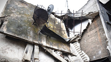 Ситуация в городе Хомс, Сирия. Январь 2016. Архивное фото