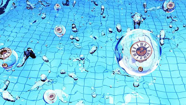 Так художник представил себе сверхтяжелые частицы, игравшие роль часов во время Большого Взрыва