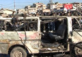 Последствия двойного теракта в сирийском городе Хомсе