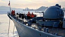 Торжественная встреча отряда кораблей Тихоокеанского флота во Владивостоке