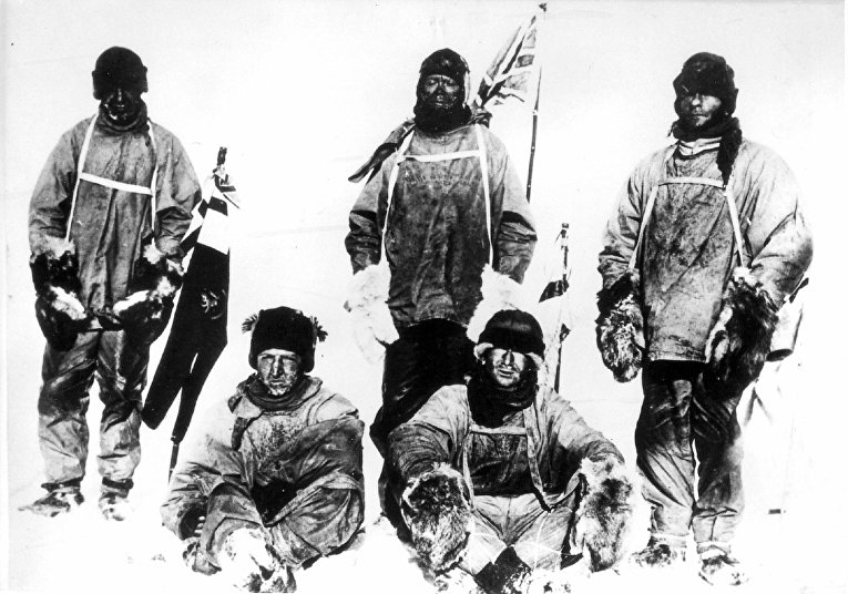Участники экспедиции Роберта Скотта к Южному полюсу. Март 1912