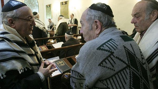 Прихожане синагоги