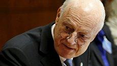Специальный представитель ООН по Сирии Стаффан де Мистура. Архивное фото